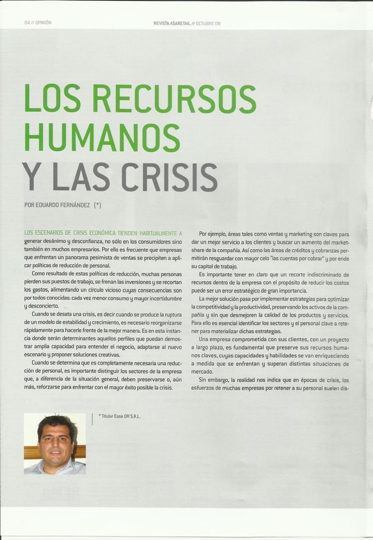 Los Recursos Humanos y la crisis
